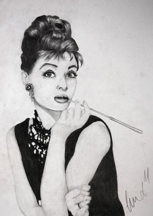 Audrey Hepburn by SweetSophie
